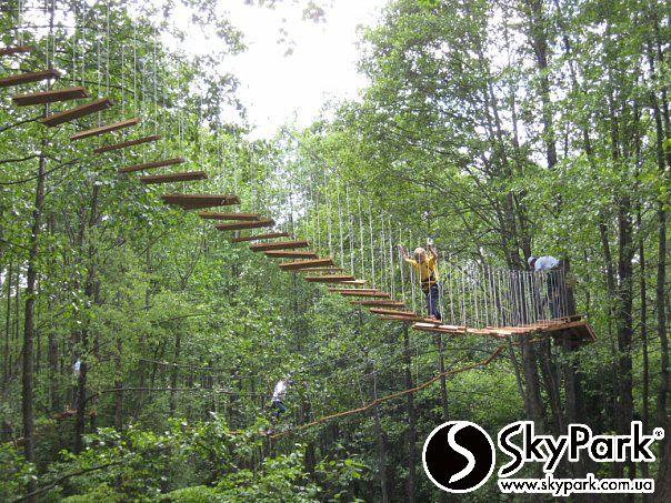 Веревочный парк «Тропа приключений». Парк длиной более 400 м