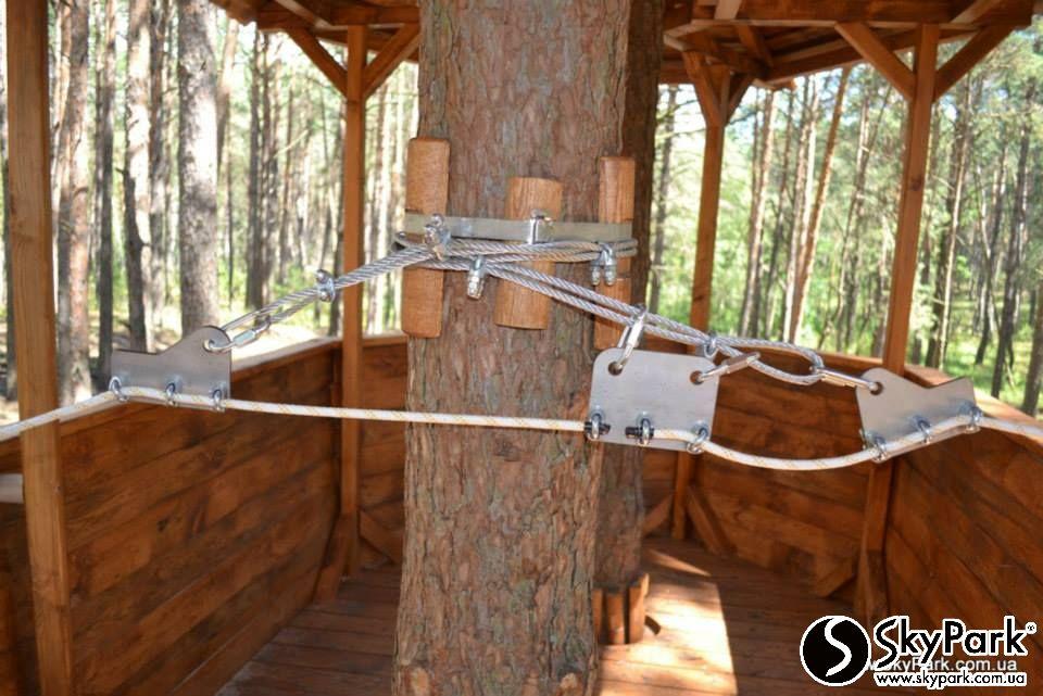 Частный веревочный парк длиной 200м