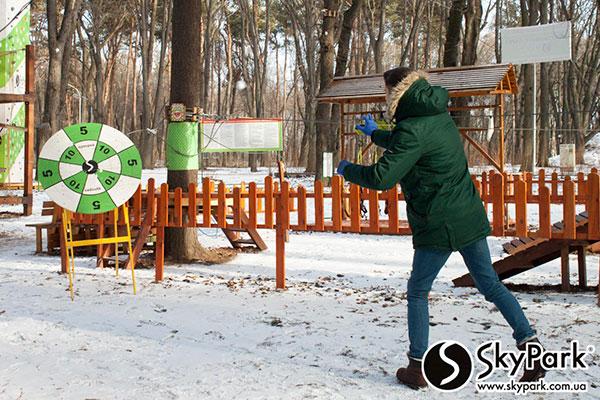 Зимние игры в веревочном парке SkyPark