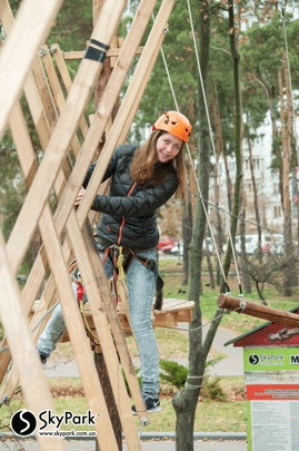 2014 the adventure park of Skypark company at Victory Park (Kyiv)