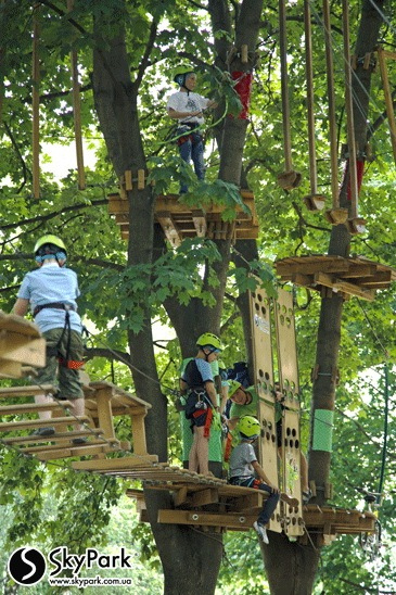 "2015, the adventure park from the Skypark company at the National Exhibition Center"" (Kiev)"
