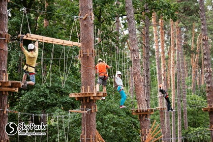2015, the adventure park by the Skypark company at Vynohradar (Kiev)