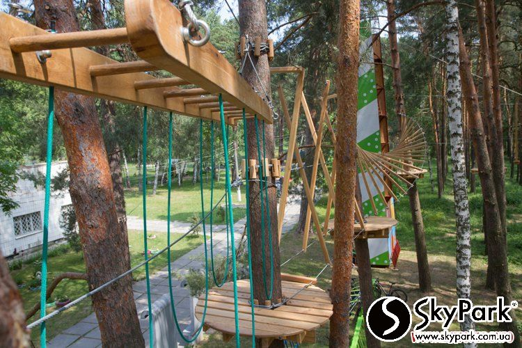 2015, the adventure park SKYPARK in Zhytomyr (the Zhytomyr city)