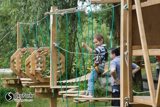 2016, the adventure park by the Skypark company at Feofaniya Park (Kiev)